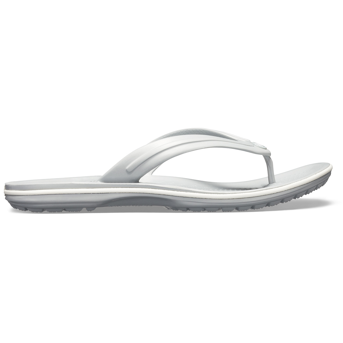 Crocs Crocband Flip - Açık Gri/Beyaz