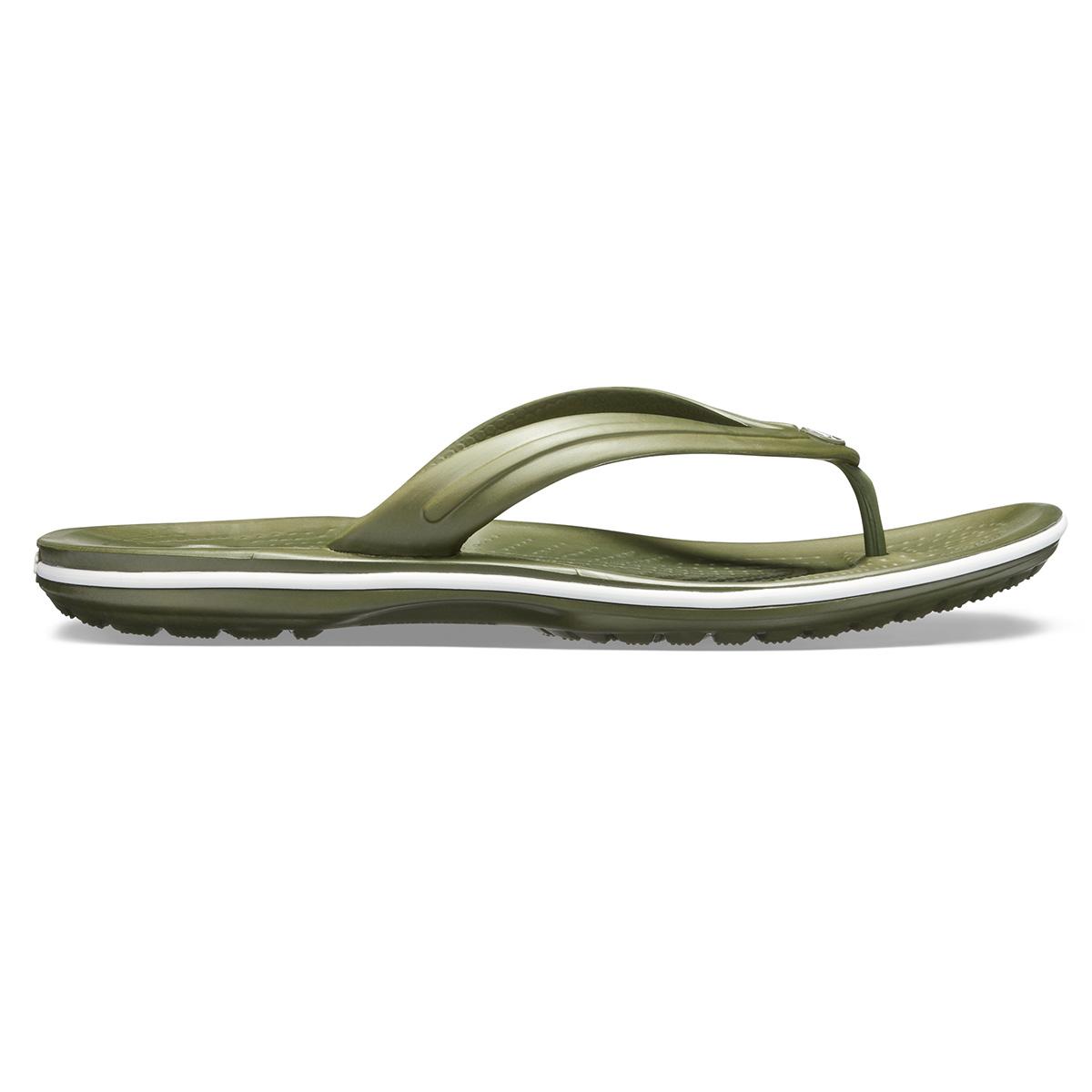 Crocs Crocband Flip - Askeri yeşil/Beyaz