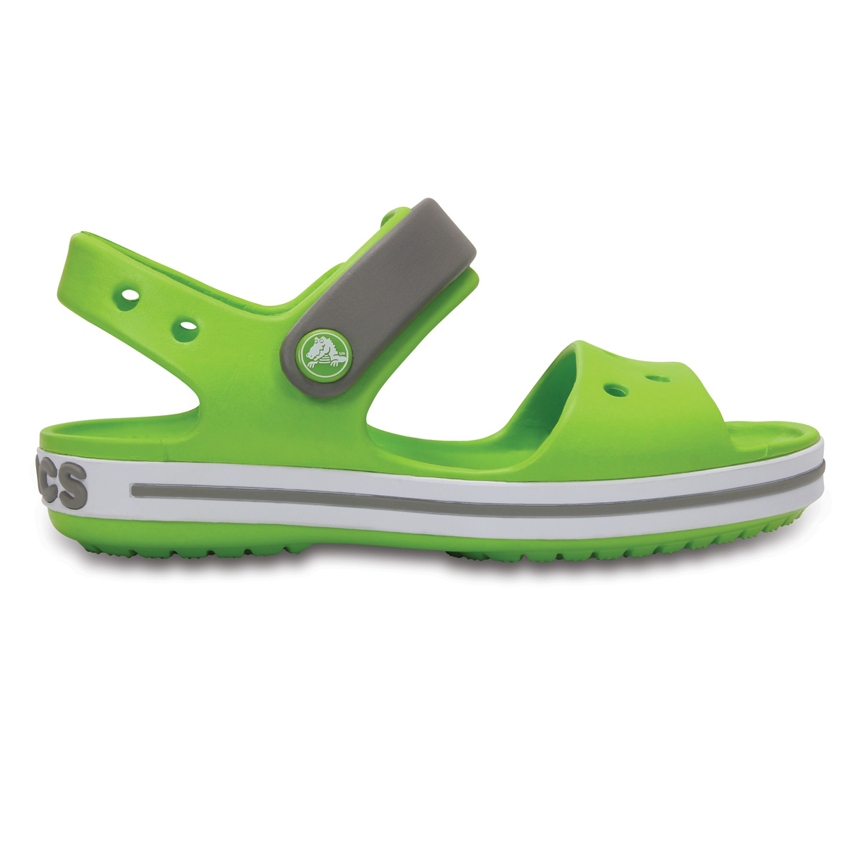 Crocs Crocband Sandal Kids - Volt Yeşil/Duman