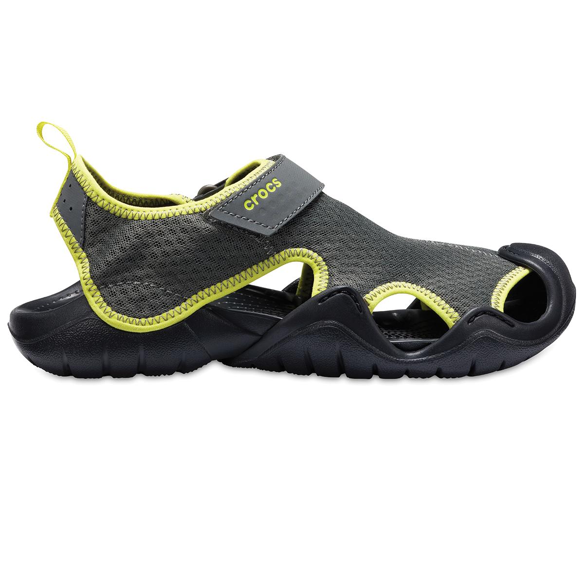 Crocs Swiftwater Sandal M - Barut Rengi/Tenis Topu Yeşili