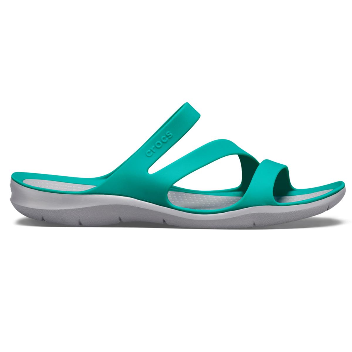 Crocs Swiftwater Sandal W - Tropikal Deniz mavisi/Açık Gri