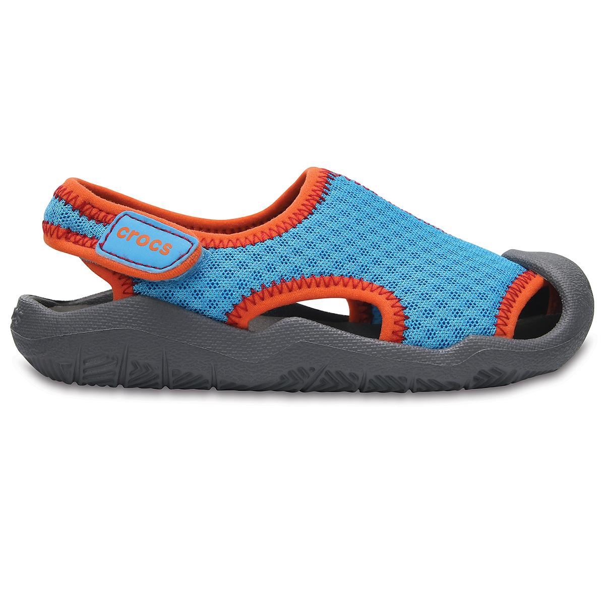 Crocs Swiftwater Sandal K - Gök Mavisi/Duman