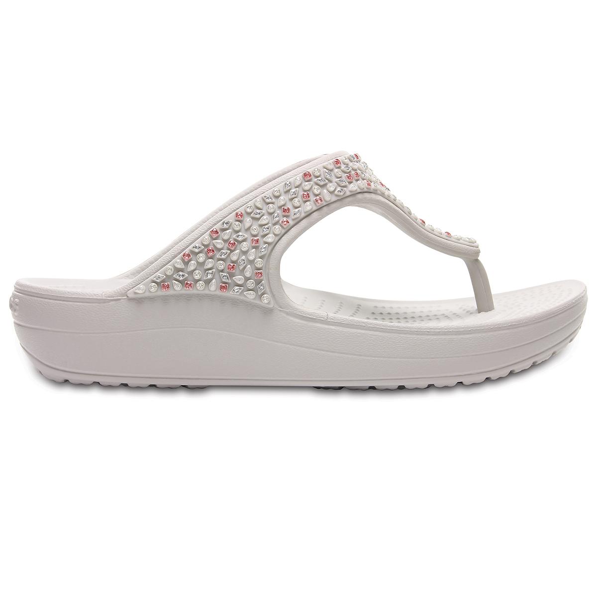 Crocs Sloane Embellished Flip - İnci Beyazı