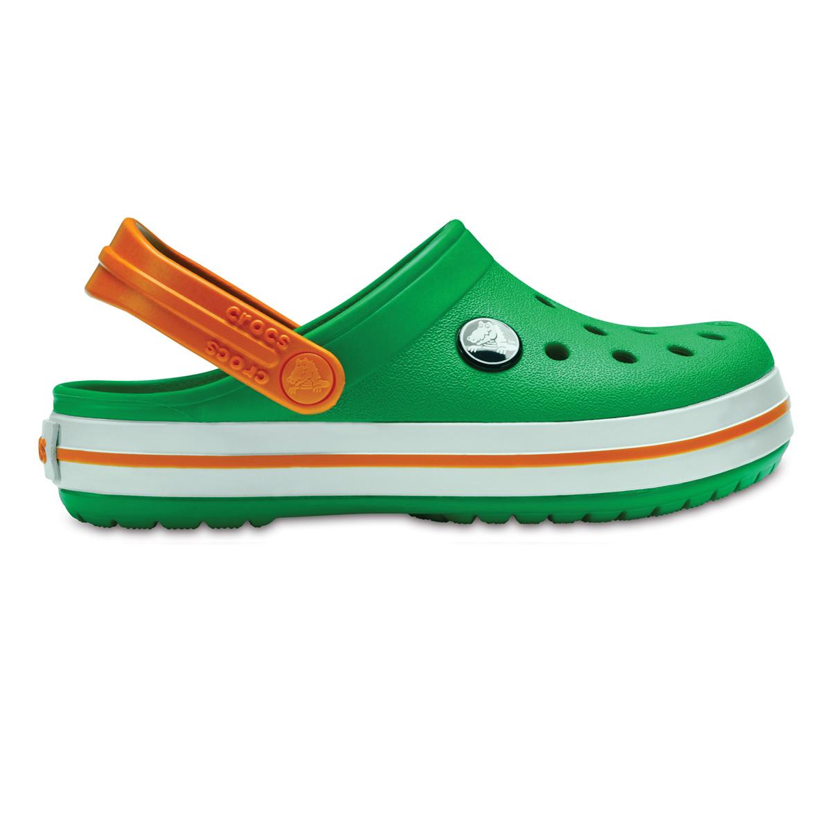 Crocs Crocband Clog K - Çimen Yeşili/Beyaz/Turuncu