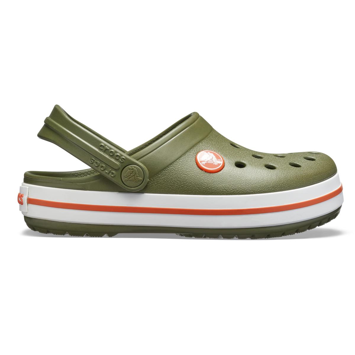 Crocs Crocband Clog K - Askeri yeşil/Yanık Sienna