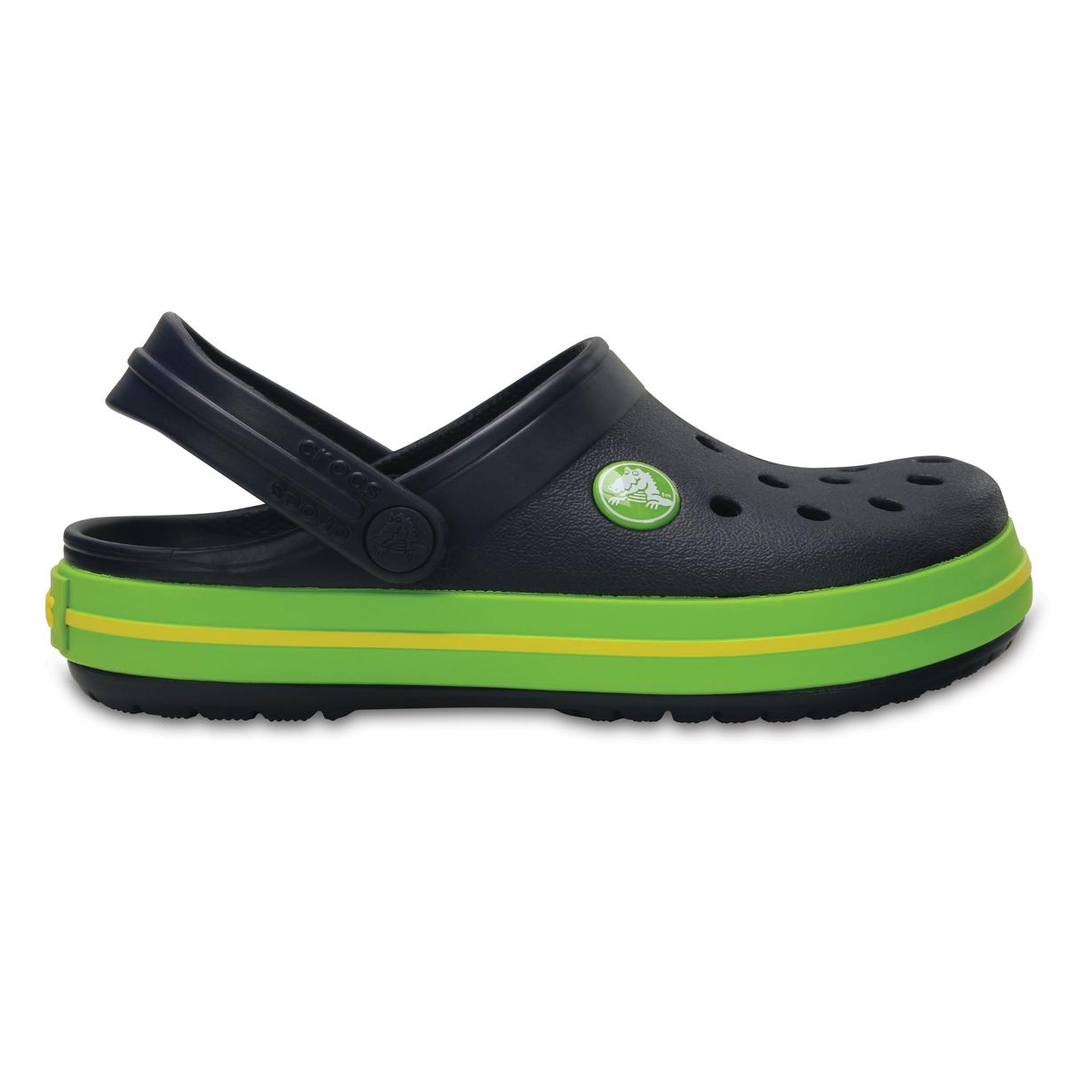 Crocs Crocband Clog K - Lacivert/Volt Yeşil
