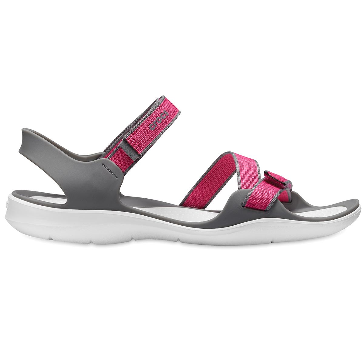 Crocs Swiftwater Webbing Sandal W - Cennet Pembesi/Duman