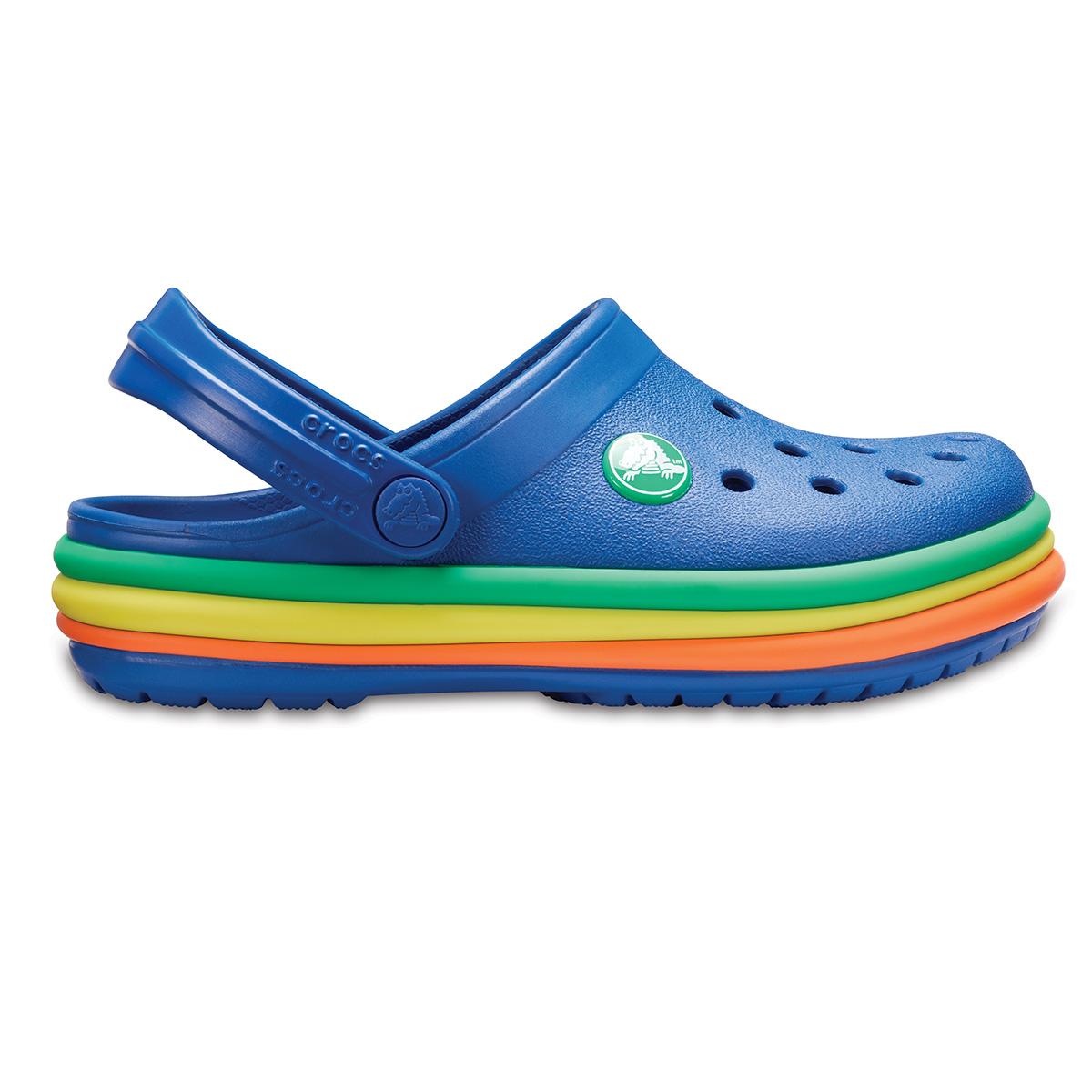 Crocs CB Rainbow Band Clog K - Mavi Jean