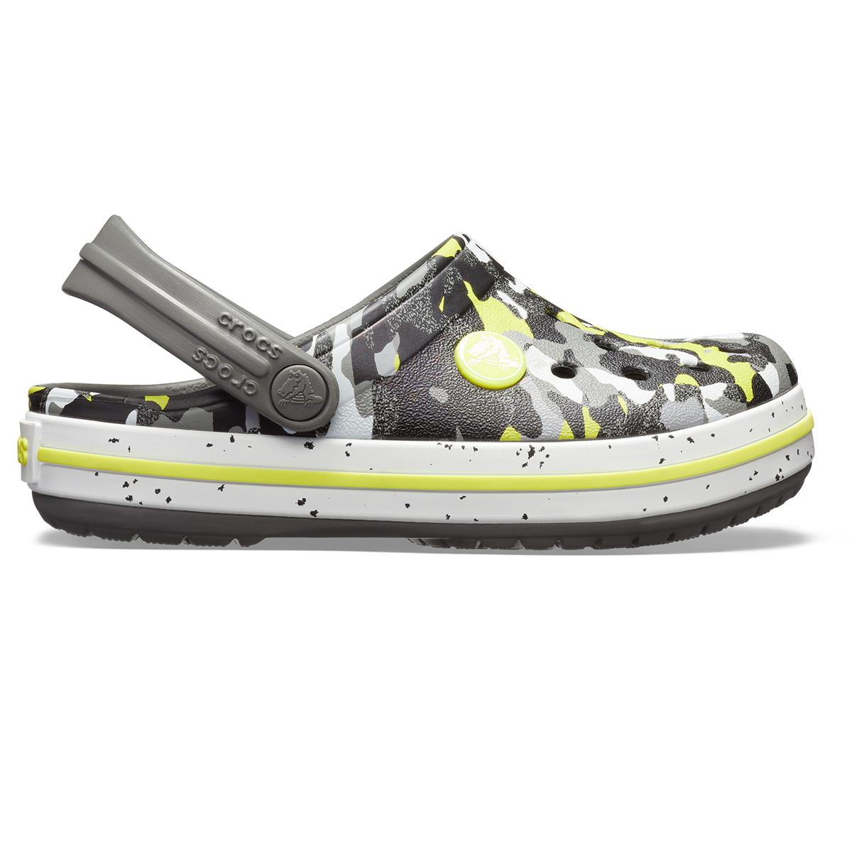 Crocs Crocband Camo Speck Clog K - Grafit/Kamuflaj