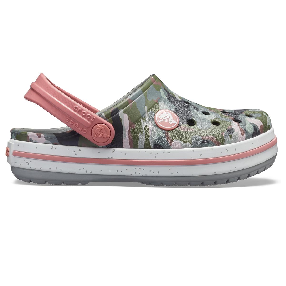 Crocs Crocband Camo Speck Clog K - Kamuflaj/Açık Gri