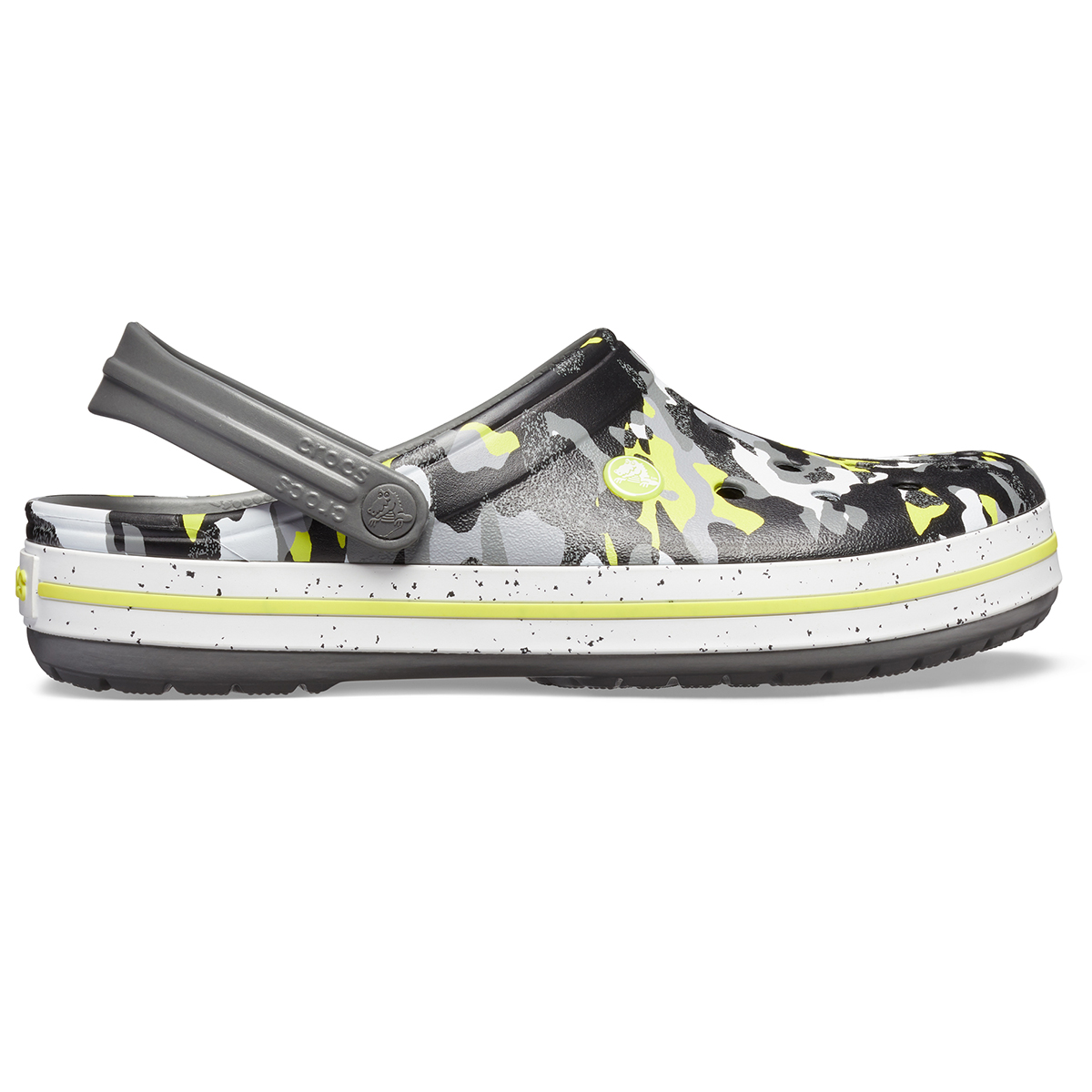 Crocs Crocband Graphic III Clog - Kamuflaj/Grafit
