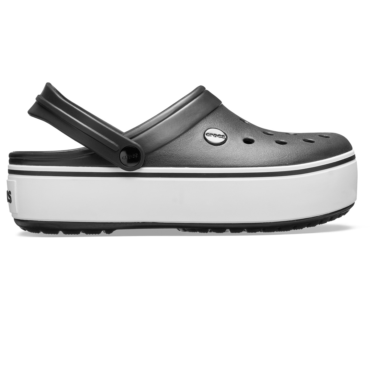 Crocs Crocband Platform Clog - Siyah/Beyaz