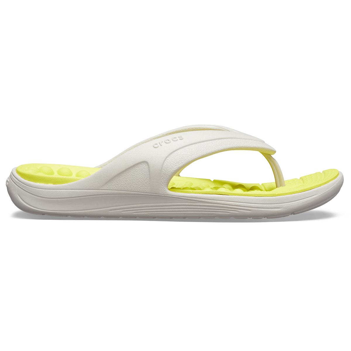 Crocs Reviva Flip - İnci Beyazı/Turunçgil