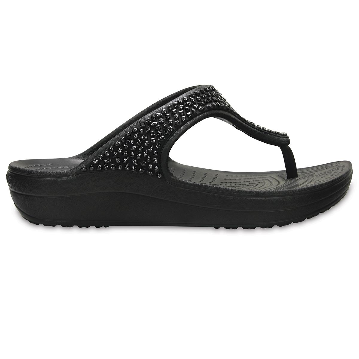 Crocs Sloane Embellished Flip - Siyah/Siyah