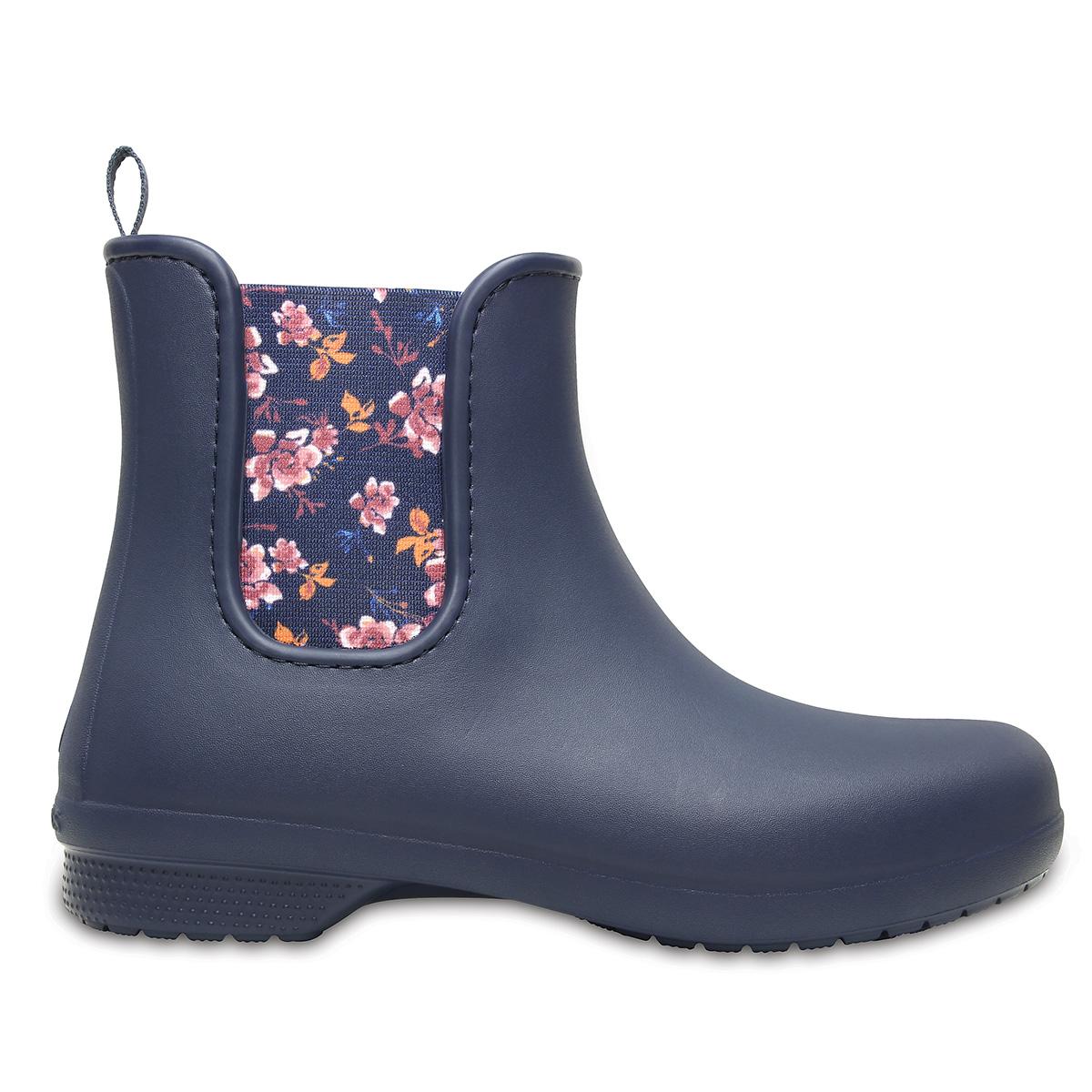 Crocs Freesail Chelsea Boot W - Lacivert/Çiçekli