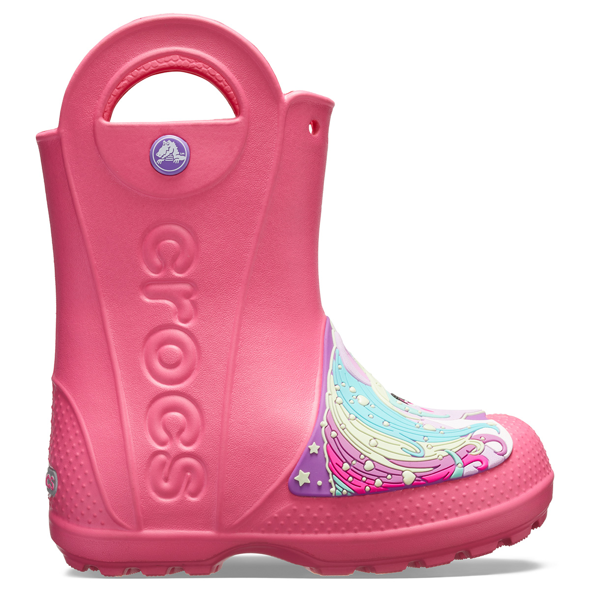 Crocs FL Creature Rain Boot K - Cennet Pembe - Cennet Pembesi