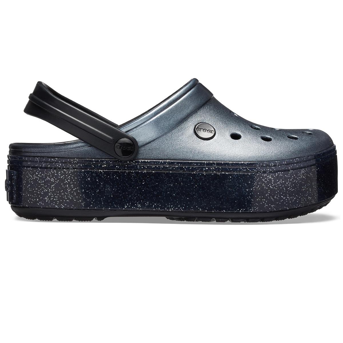 Crocband Platform Metallic Clg - Metalik Siyah
