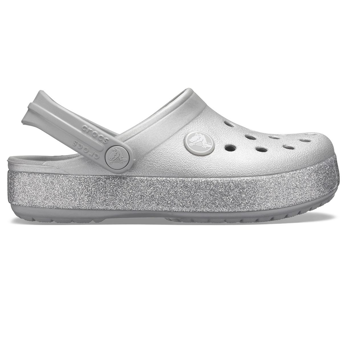 Crocband Glitter Clog K - Gümüş