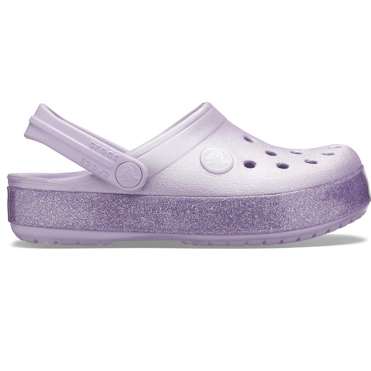 Crocband Glitter Clog K - Lavanta