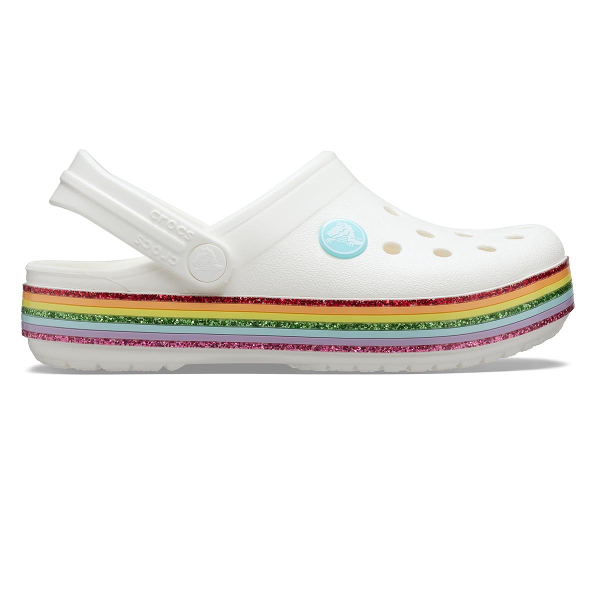 Crocband Rainbow Glitter Clg K - Beyaz