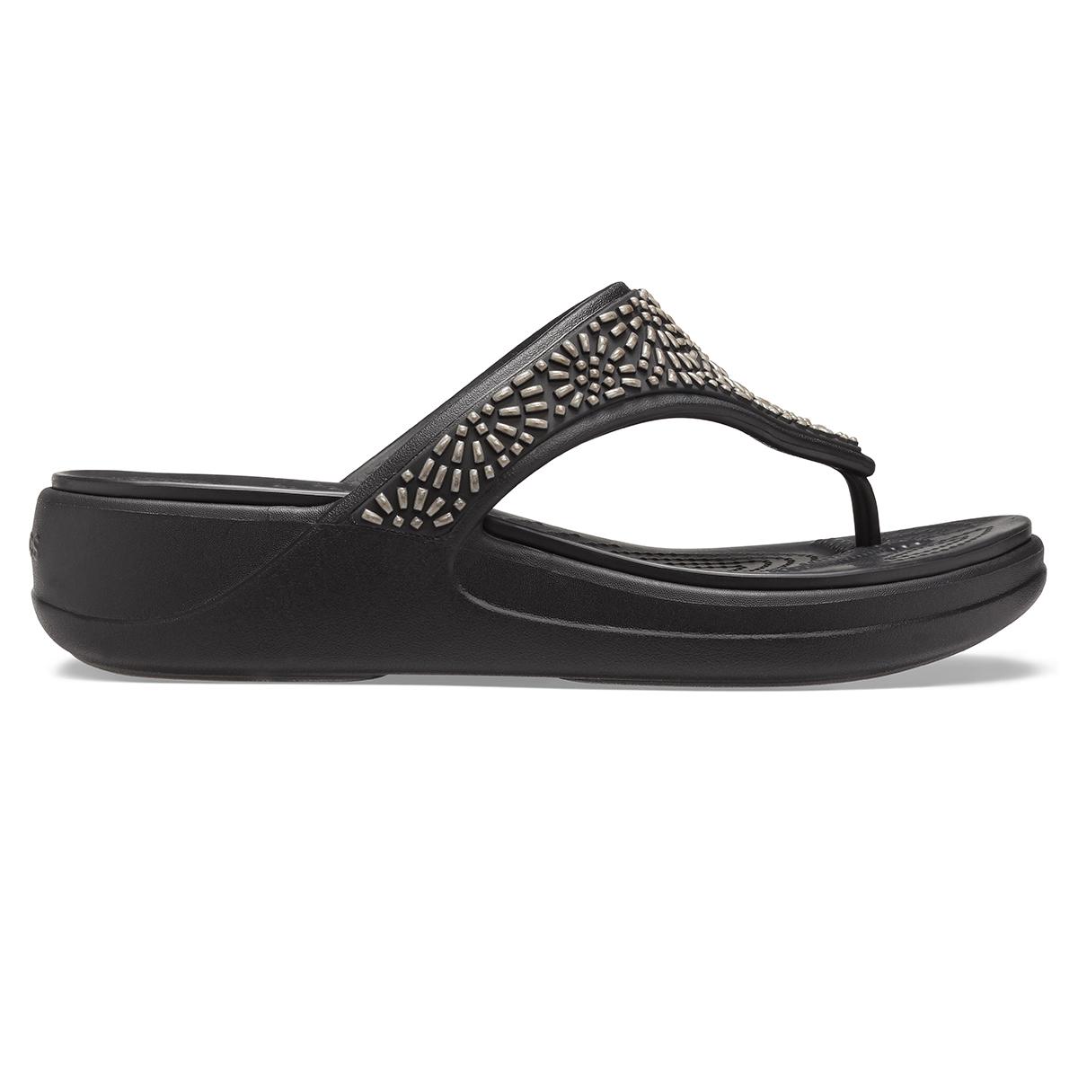 Crocs Monterey Diamante WdgFpW - Siyah