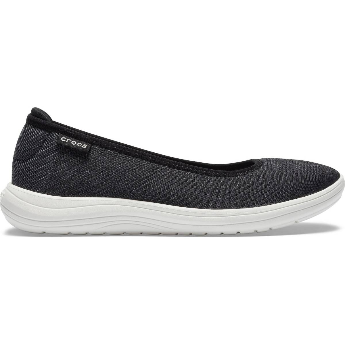 Crocs Reviva Flat W - Siyah/Beyaz