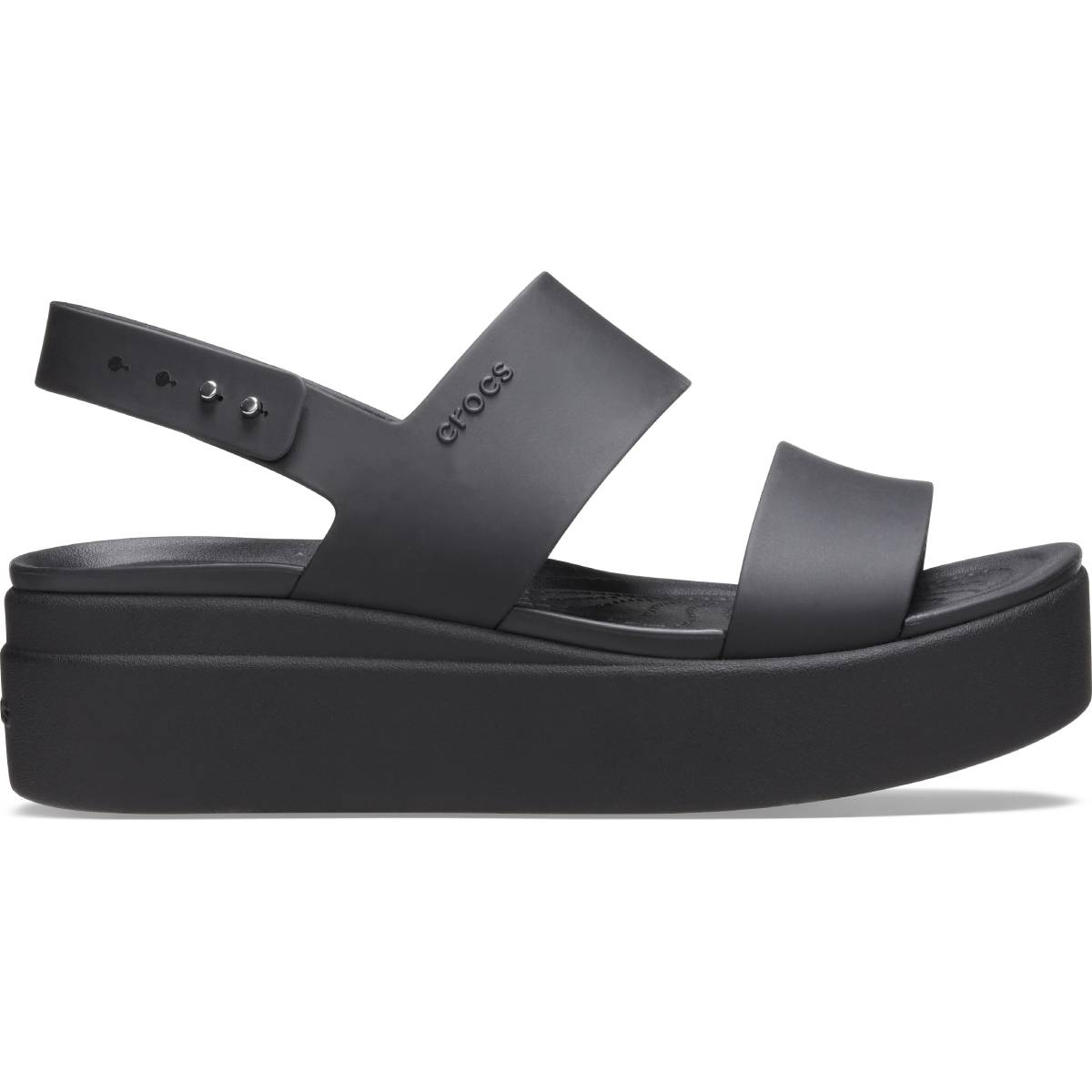 Crocs Brooklyn Low Wedge W - Siyah/Siyah