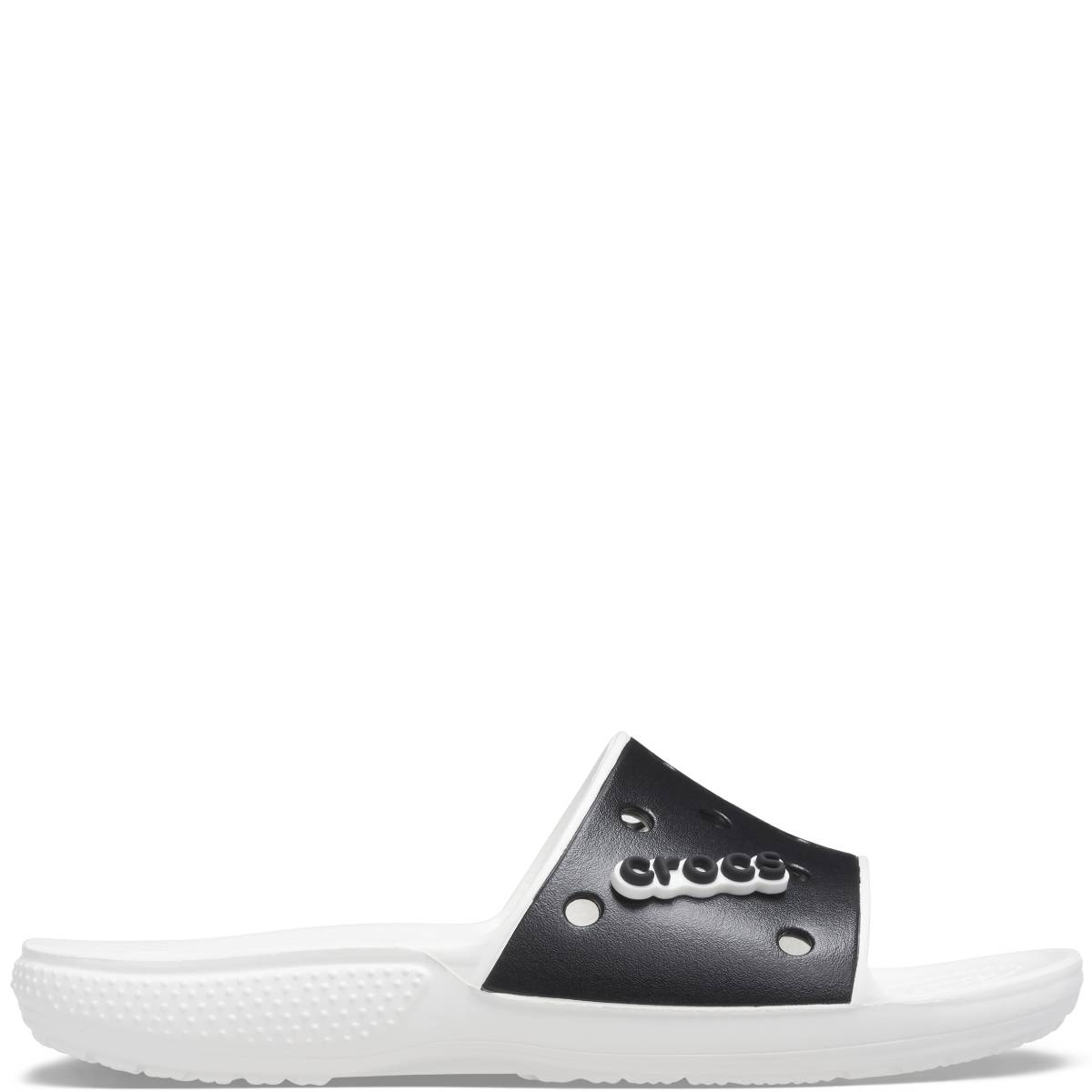 Classic Crocs Colorblock Slide - Beyaz Siyah