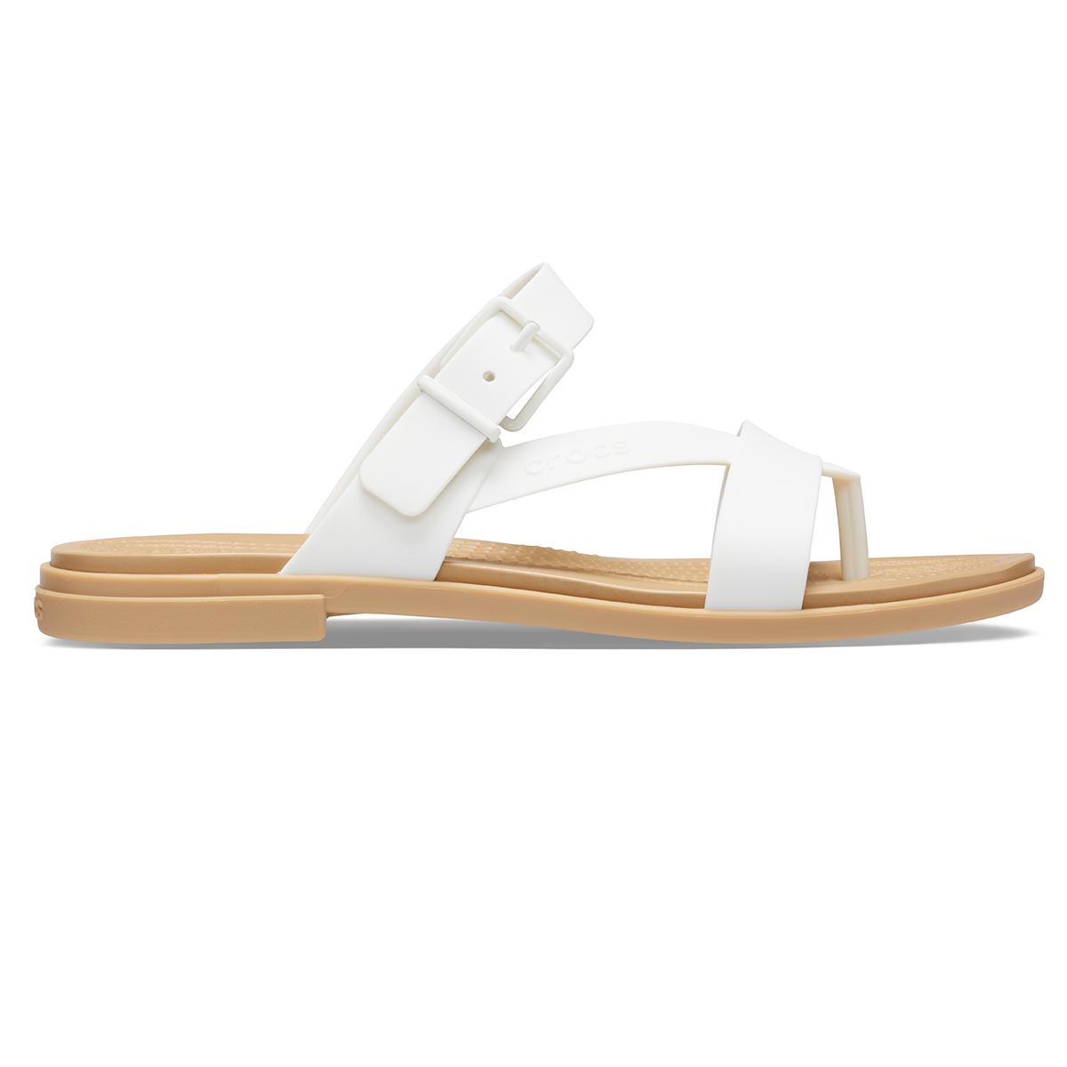 Crocs Tulum Toe Post Sandal W - Oyster/Tan